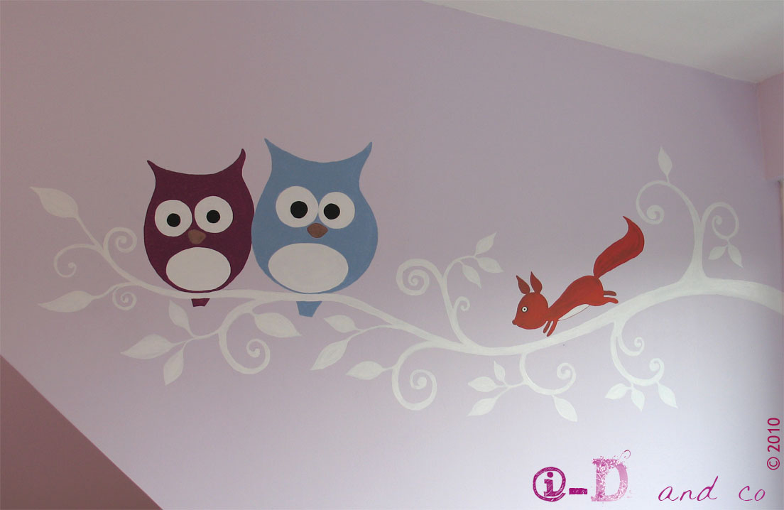Customisation des murs de la chambre du bébé - Idees et creations ...