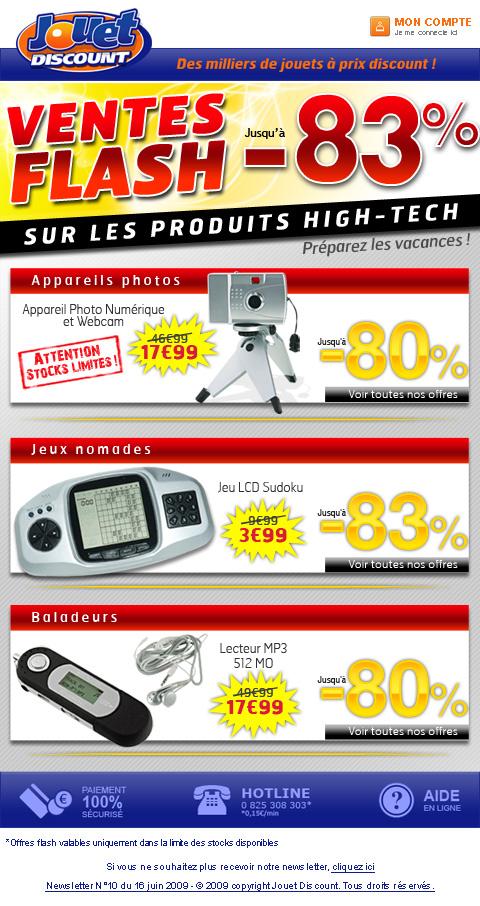Newsletter Jouet Discount