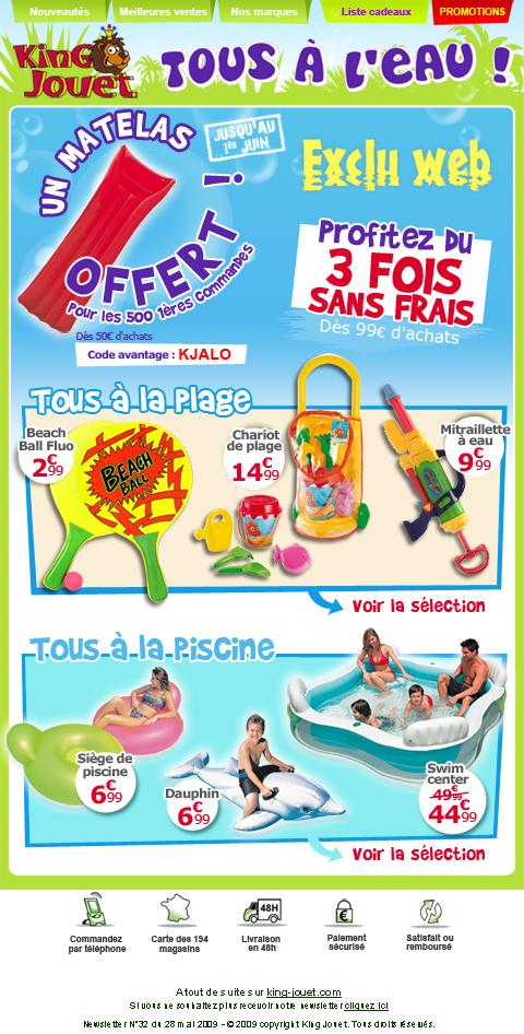 Newsletter King jouet
