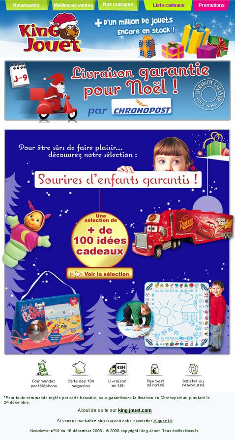 Newsletter King jouet du 16 décembre 2008