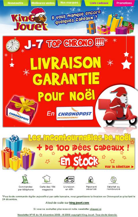 Newsletter King jouet du 18 décembre 2008