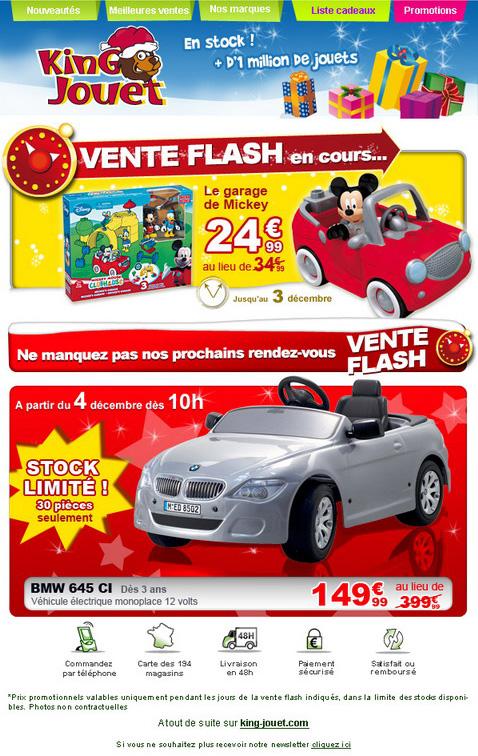 Newsletter King jouet du 1er décembre 2008